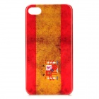 Retro Spain Flag Style Protective PC Back Case for iPhone 4 / 4S - Red