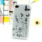 Iris Pattern Protective Plastic Back Case for Iphone 4 / 4S - White