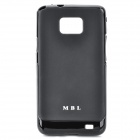 MBL Protective Silicone Case for Samsung i9100 Galaxy S2 - Black