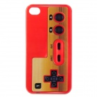 Gaming Controller Style Protective PC Back Case for Iphone 4 / 4S - Red + Yellow