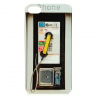 Telephone Booth Style Protective PC Back Case for iPhone 4 / 4S - Black + Grey