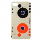 Retro Cassette Style Protective PC Back Case for Iphone 4 / 4S - Grey + More