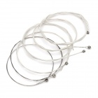 Replacement Steel String Set for Guitar - Silver + White (6-Piece Pack)