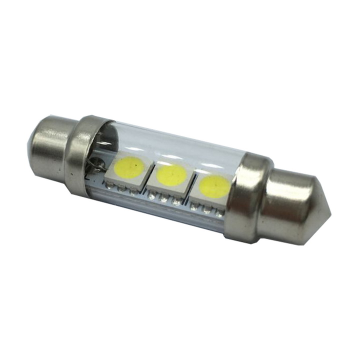 42mm 1.2W 3-LED 6000~7000K54LM White Light Bulbs for Car
