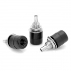 JL0350 Speaker Amplifier Banana Socket Connectors - Black + Silver (20-Piece Pack)