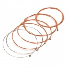 Replacement Steel String Set for Guitar - Copper + Silver (6-Piece Pack)