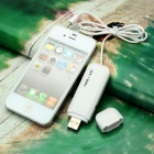 Simple FM Transmitter w/ 3.55mm Stereo Headphone Plug for Iphone 4S / 3GS / Ipad 2 - White