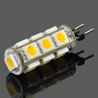 G4 2.6W 13x5050 SMD LED 90lm Warm White Light Lamp (12~16V)