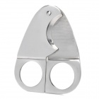 Tragbare Triangle Style-Stahl Cigar Cutter Messer - Silber