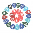 The Zodiac Pattern Celluloid Guitar Picks (24-Piece Pack)