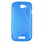 S Pattern Protective TPU Case for HTC One S - Blue