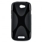 X Pattern Protective TPU Case for HTC One S - Black