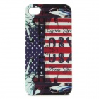 U.S. Flag + Status of Liberty Style Protective Back Case for Iphone 4 / 4S - Blue + Red