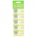 CR2025 3V Lithium Cell Button Battery (5-Piece Pack)