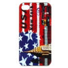 U.S Flag + Bus Pattern Protective Back Case for Iphone 4 / 4S - Red + More