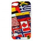 National Flags Pattern Protective Back Case for Iphone 4 / 4S - Red + More