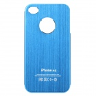 Fashion Protective Aluminum Alloy Back Case for Iphone 4 / 4S - Blue