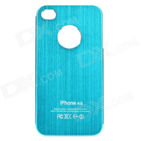 Fashion Protective Aluminum Alloy Back Case for Iphone 4 / 4S - Light Blue protective aluminum alloy bumper frame case for iphone 6 4 7 grey golden