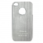 Fashion Protective Aluminum Alloy Back Case for iPhone 4 / 4S - Silver
