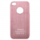 Fashion Protective Aluminum Alloy Back Case for iPhone 4 / 4S - Pink