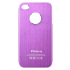 Fashion Protective Aluminum Alloy Back Case for iPhone 4 / 4S - Purple