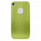 Fashion Protective Aluminum Alloy Back case for iPhone 4 / 4S - Yellow