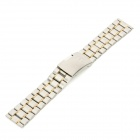 Replacement QG-9 Stylish Steel Wrist Watch Band - Silver + Golden