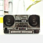 Retro Tape Recorder Style Protective PC Back Case for Iphone 4 / 4S - Black + Grey