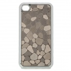 Protective Map Cracking Pattern Plastic + Electroplating Back Case for iPhone - Silver
