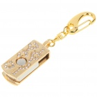 Stylish Crystal USB 2.0 Flash/Jump Drive Keychain (4GB)