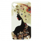 Beauty Pattern Protective Plastic Back Case for Iphone 4 / 4S - Black + White