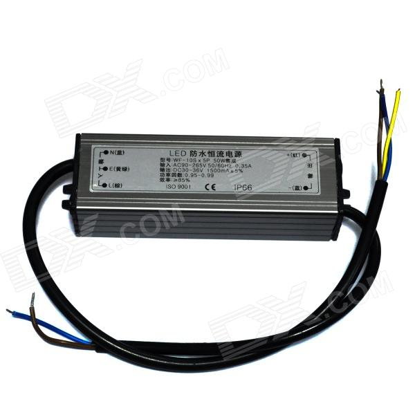 Water Resistant 50W LED Constant Current Source Power Supply Driver (90~265V) kvp 24200 td 24v 200w triac dimmable constant voltage led driver ac90 130v ac170 265v input