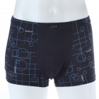 Men's Soft Modal Fabric Boxers Underwear - Black (Size-M)
