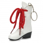 Creative Boot Style Butane Lighter with Keychain - White + Red + Black