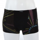 Men's Soft Geometric Design Modal Fabric Boxers Underwear - Black (Size-M)