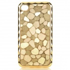 Stylish Crack Style Protective Back Case for Iphone 4 / 4S - Golden