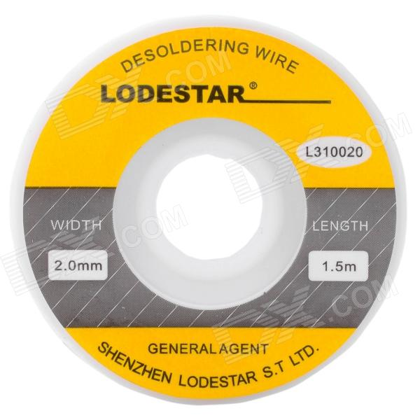 Lodestar Solder Wick Soldering Removing Wire (1.5m) 1 pc 1 5m 5ft solder wick remover desoldering braid wire sucker cable fluxed flux