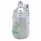 Novel Baby Bottle Style Butane Lighter - White + Silver