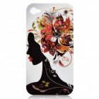 Beautiful Woman Style CrystalProtective Plastic Case for Iphone 4 / 4S