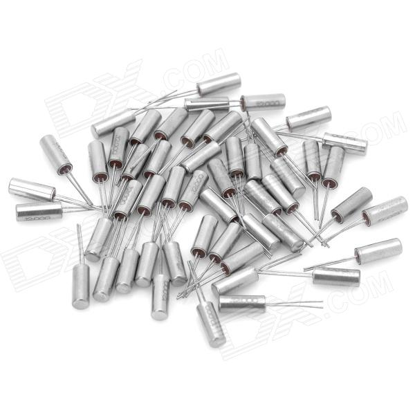 Electronic DIY Cylinder Style 12MHz Crystal Oscillators - Silver (50-Piece Pack) cchd 950 50 49 152 crystals and oscillators mr li