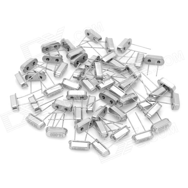 Electronic DIY 16MHz Crystal Oscillators - Silver (50-Piece Pack)