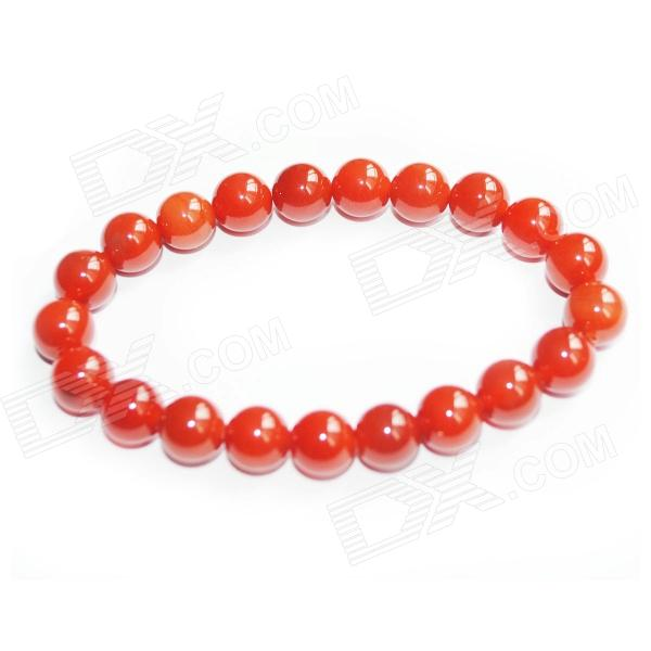 Fashion Round Agate Beads Bracelet - Red все цены