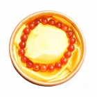 Fashion Round Agate Beads Bracelet - Red