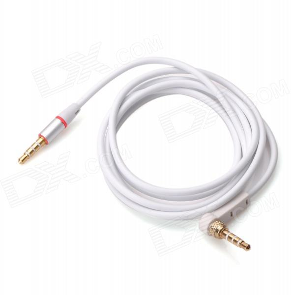 3.5mm M-M Audio Jack Connection Cable for Iphone 4 / 4S - White (117cm-Length)