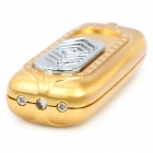 USB Rechargeable Electronic Cigarette Lighter w/ Money Detector - Golden