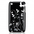 Iris Pattern Protective Plastic Back Case for iPhone 3G - Black + Silver