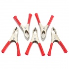 Car 30A Battery Terminal Alligator Crocodile Clamp Clip - Red + Silver (5-Piece Pack)