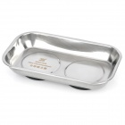 Stainless Steel Magnetic Tray Small Parts Dish - Silver