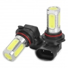 9006 7.5W 4-LED 380LM White Light Car Fog Light (2-Piece)