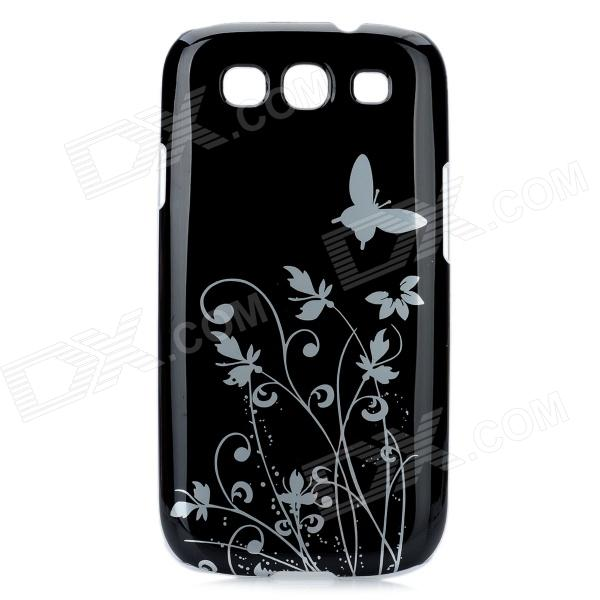 Protective Plastic Case for Samsung Galaxy S3 i9300 - Black fashionable protective bumper frame case with bowknot for samsung galaxy s3 i9300 black